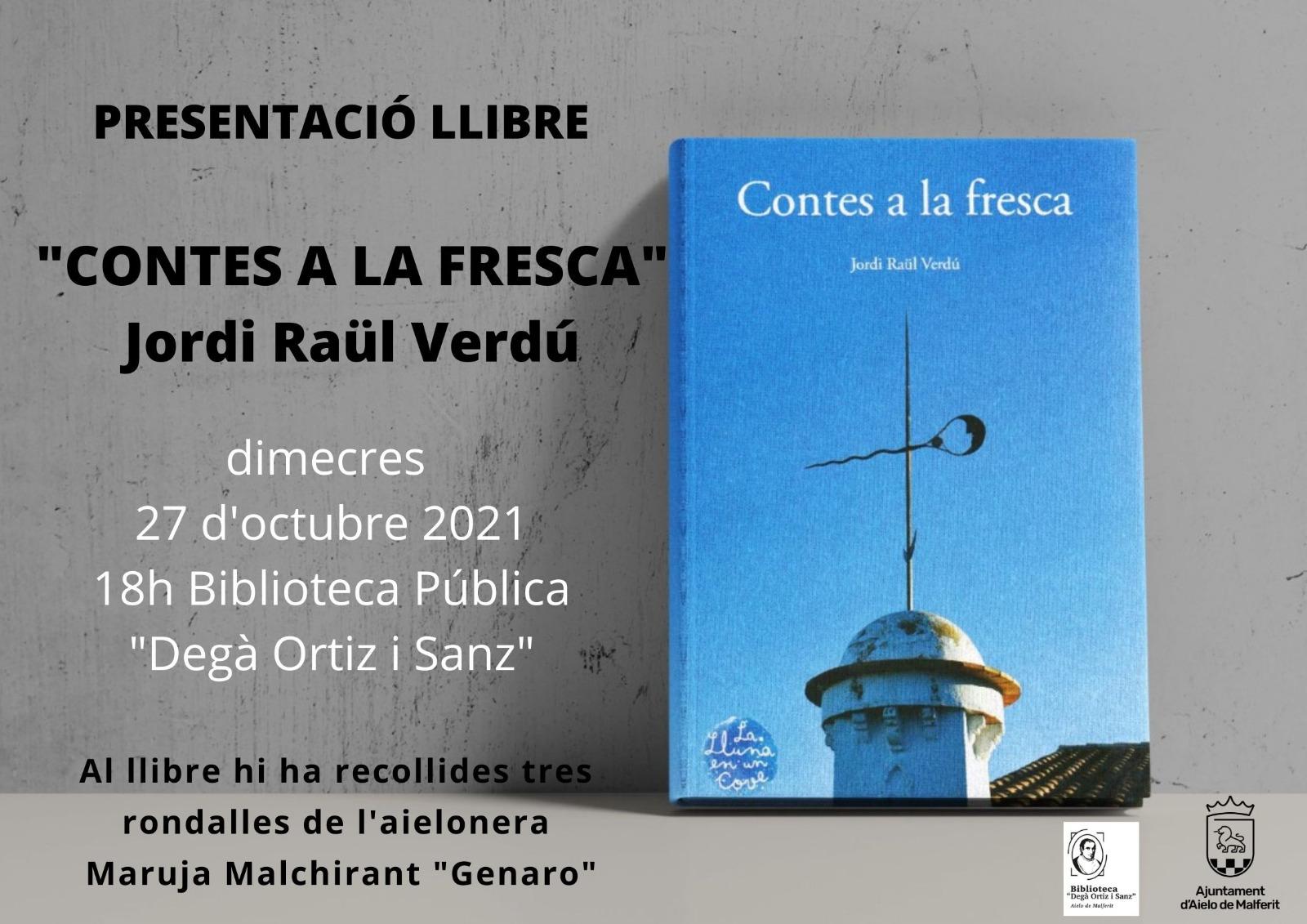 """Presentació del llibre """"CONTES A LA FRESCA"""""""