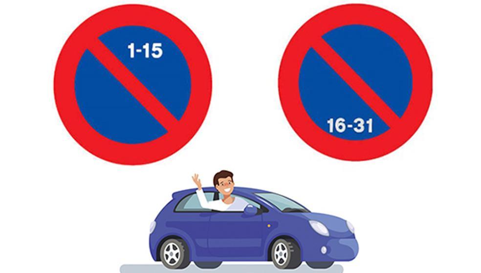 Recordatori canvi d'estacionament quinzenal