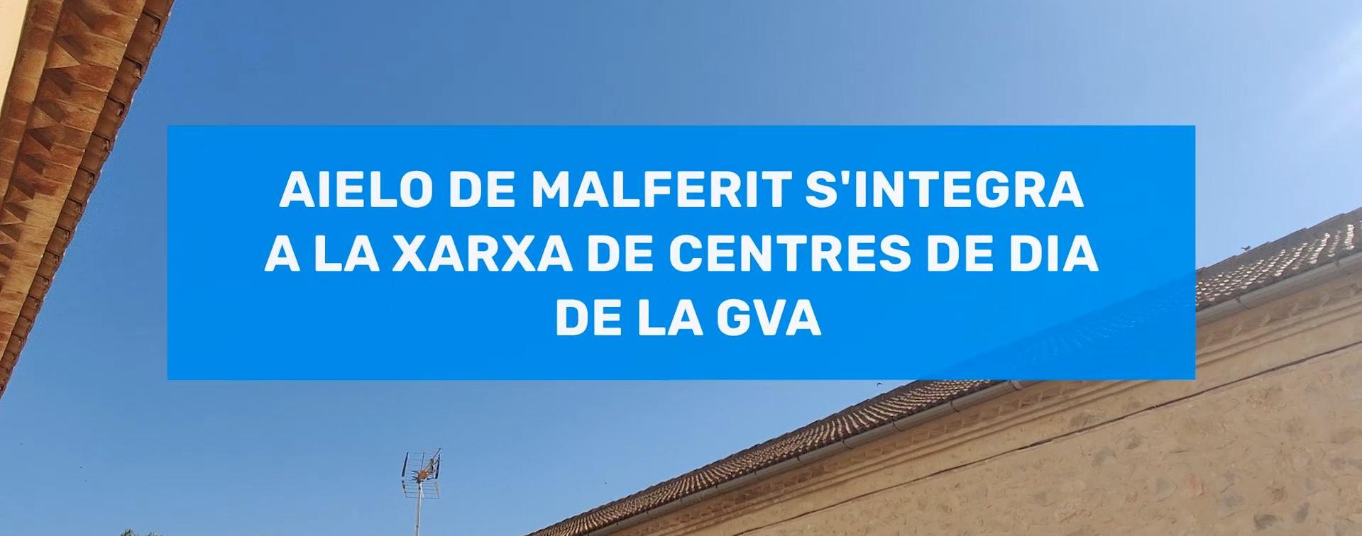 Aielo de Malferit s'integra a la xarxa de Centres de Dia de la GVA