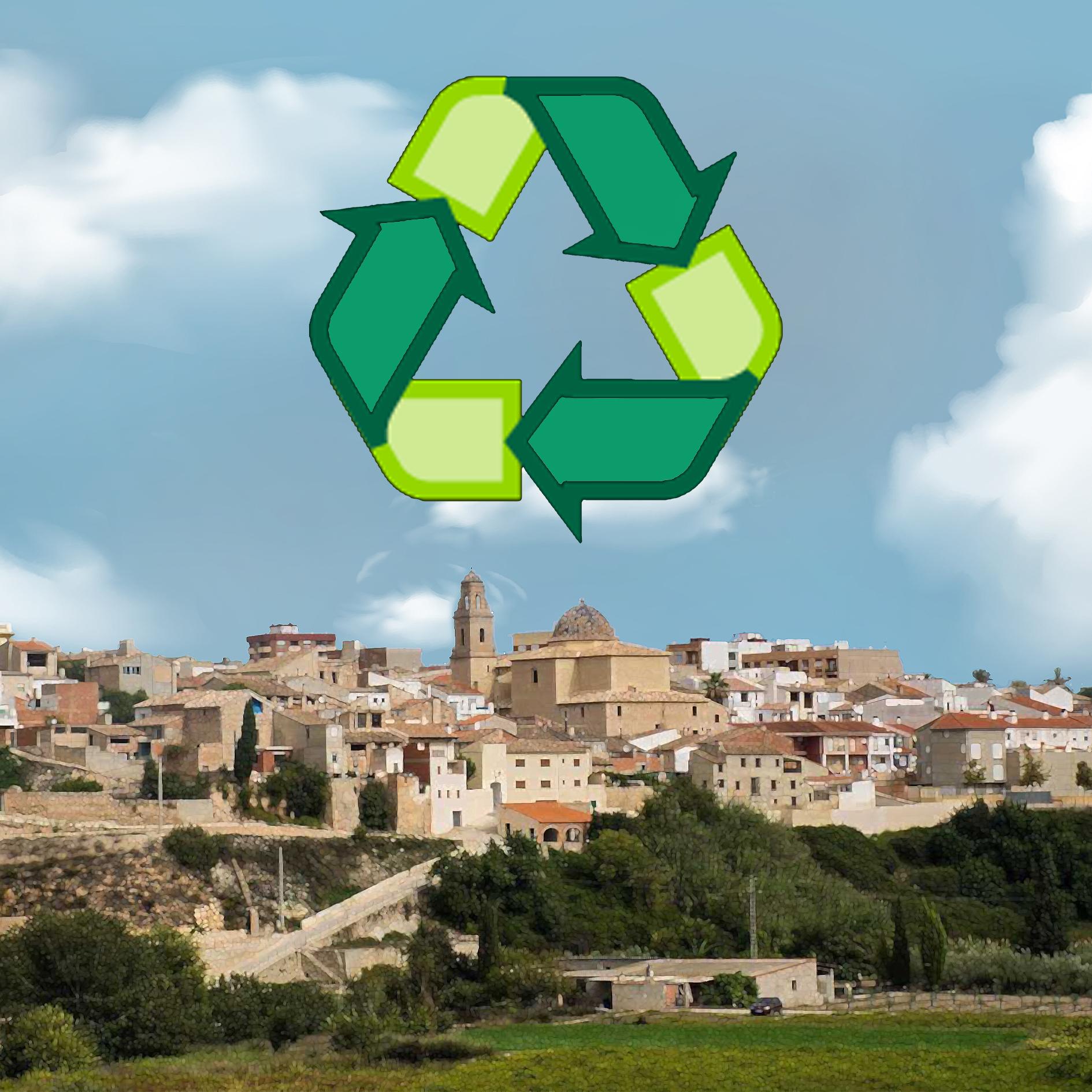 El veïnat d'Aielo de Malferit recicla un 20% més en 2020 i supera les 224 tones de residus.
