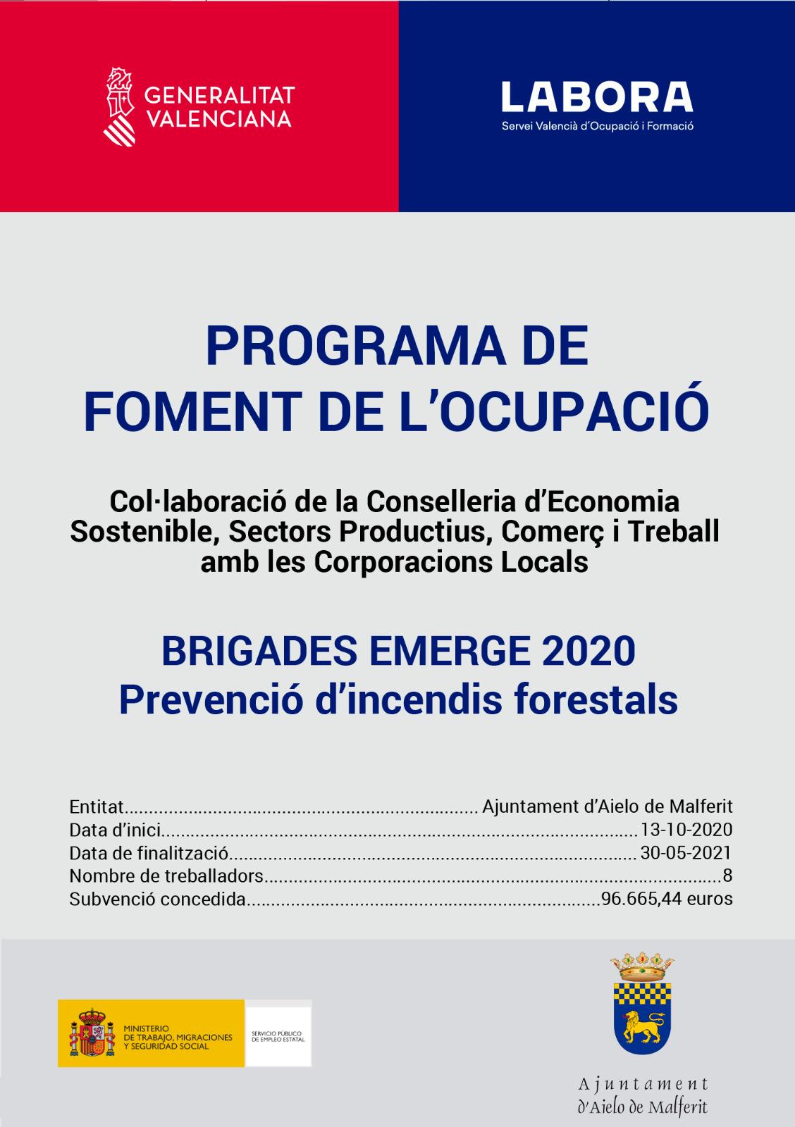"""COMENCEN ELS TREBALLS DE PREVENCIÓ D'INCENDIS AL MUNICIPI """"BRIGADES EMERGE 2020"""""""