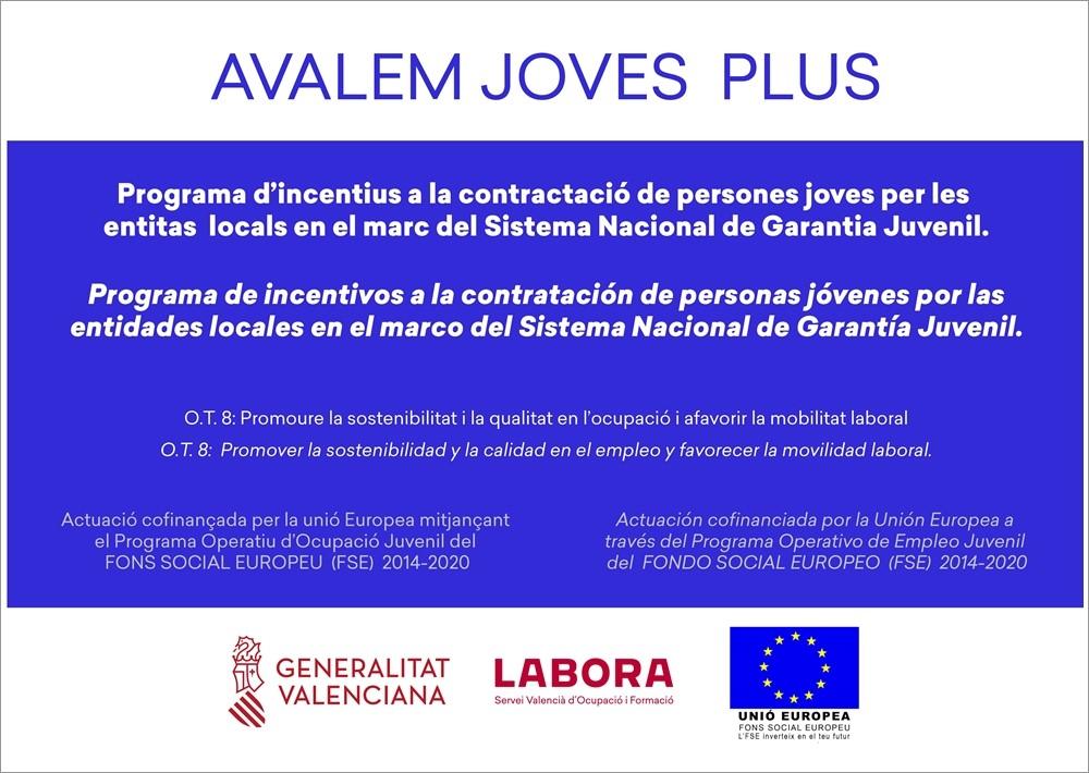 L'Ajuntament d'Aielo de Malferit contracta dos joves a través del programa AVALEM JOVES PLUS