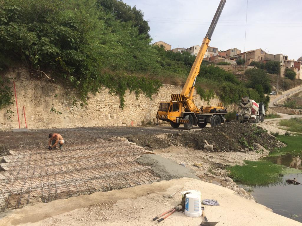 Finalitza la primera fase d'ampliació del baden del Pont d'Allà Baix