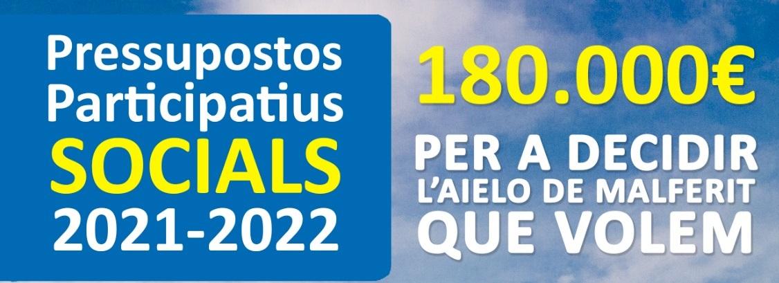 Comença la fase de votacions dels Pressupostos Participatius 2022 a Aielo de Malferit