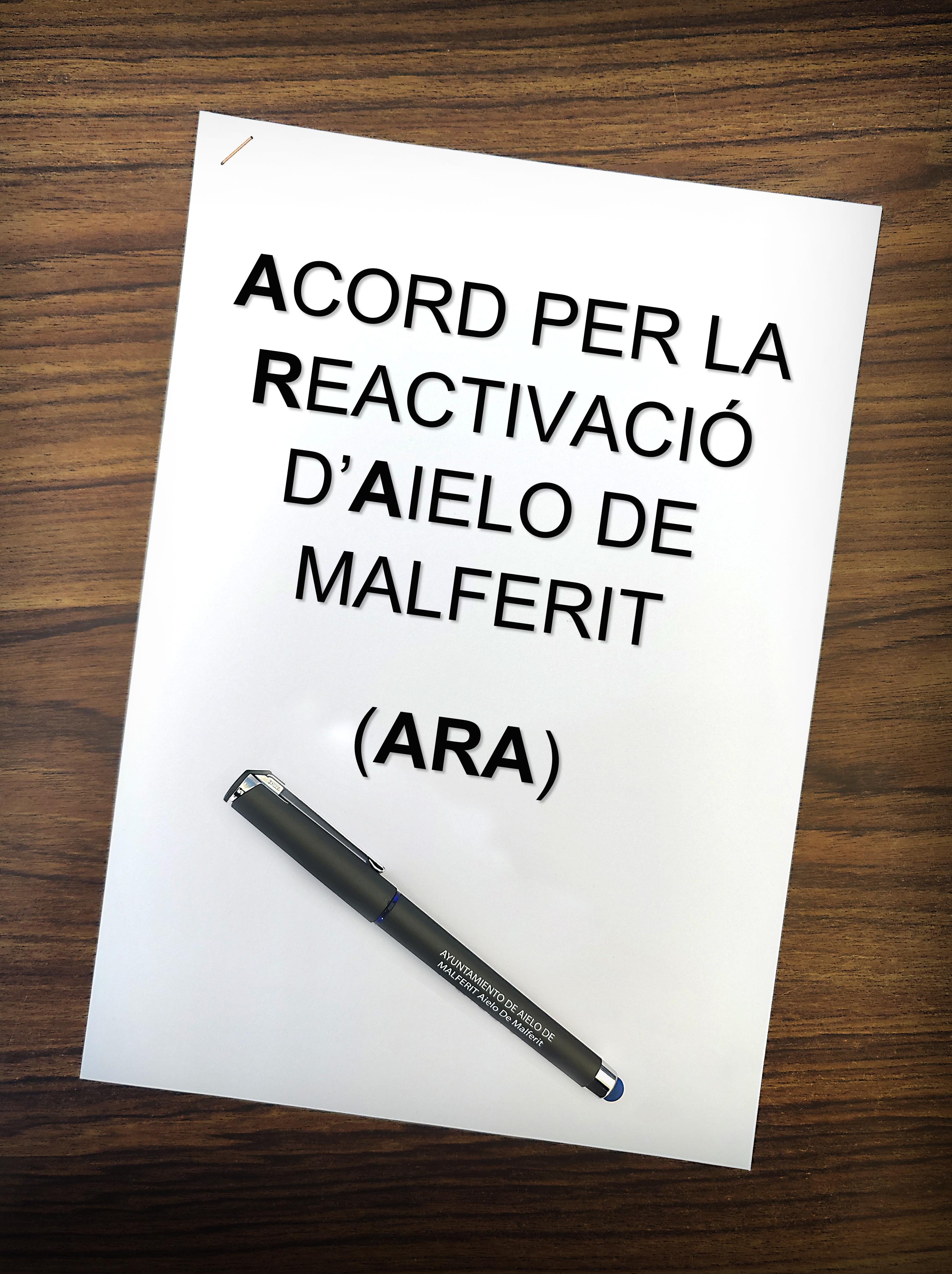 """L'Ajuntament concedeix ajudes en el marc de l'acord """"ARA"""" als autònoms i establiments de la localitat"""