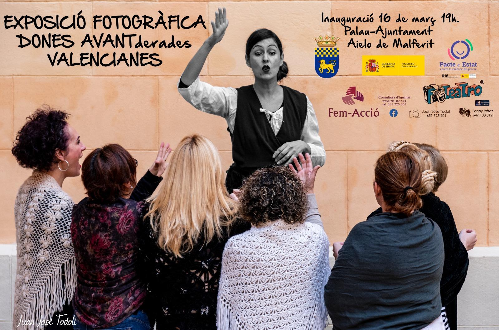 Aielo de Malferit enceta l'EXPOSICIÓ FOTOGRÀFICA DONES AVANTderades VALENCIANES